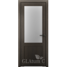 Greenline GLAtum С2 (дуб серый) межкомнатная дверь