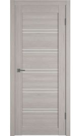 X28 Pro Stone oak White cloud (серый) матовое стекло межкомнатная дверь