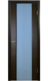 CPL 3-3 белое стекло (орех африканский) межкомнатная дверь (Остатки)
