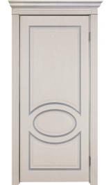 Неаполь ДГ патина серебро ПВХ межкомнатная дверь