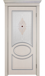 Неаполь ДО патина серебро ПВХ межкомнатная дверь