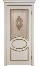 Неаполь ДО патина золото ПВХ межкомнатная дверь