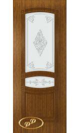 Троя-1 ДО (орех) межкомнатная дверь