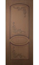 Каролина-1 ДГ (орех) межкомнатная дверь