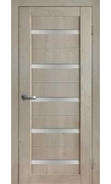 Салют 1 дуб эдисон cтекло сатинат межкомнатная дверь