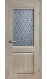 Салют 3 дуб эдисон cтекло матовое ромб межкомнатная дверь