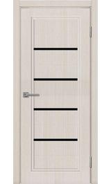 Skinex каризо белая cтекло черное межкомнатная дверь