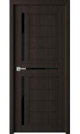 Skinex 2 Венге cтекло черное межкомнатная дверь