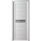 Skinex 3 Белый cтекло черное межкомнатная дверь