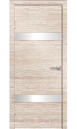 Технолайт 1/4 бел дуб бел стекло/венге черн стекло двусторонняя межкомнатная дверь (Распродажа)