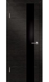 Технолайт 1/4 венге черн стекло/бел дуб бел стекло двусторонняя межкомнатная дверь (Распродажа)
