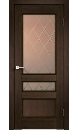 CLASSICO 3V Мокка межкомнатная дверь (Витрина)