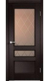 CLASSICO 3V Дуб черный стекло ромб межкомнатная дверь