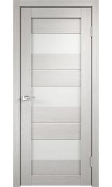 DUPLEX 12 Дуб беленый молочное стекло межкомнатная дверь
