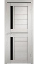 DUPLEX 3 Дуб беленый черное стекло межкомнатная дверь