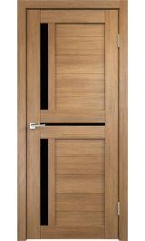 DUPLEX 3 Золотой дуб черное стекло межкомнатная дверь