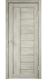 Linea 3 Дуб шале седой матовое стекло межкомнатная дверь