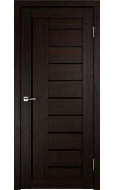 Linea 3 Венге черное стекло межкомнатная дверь