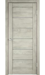 LINEA 1 Дуб шале седой матовое стекло межкомнатная дверь