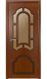 Кристалл 3ДР2 макоре (красное дерево) межкомнатная дверь