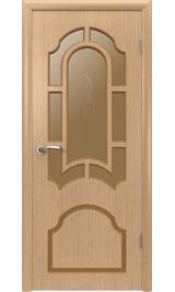 Кристалл 3ДР1 (светлый дуб) межкомнатная дверь