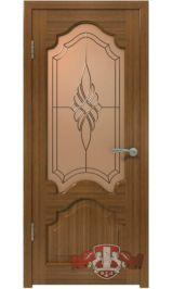 Венеция 11ДО3 (орех) межкомнатная дверь (Витрина)