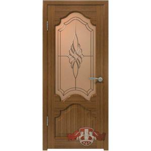 Венеция 11ДО3 (орех) межкомнатная дверь