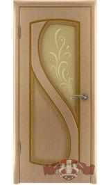 Грация 10ДО1 (светлый дуб) межкомнатная дверь (Витрина)