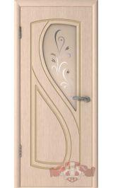 Грация 10ДО5 (беленый дуб) межкомнатная дверь (Витрина)