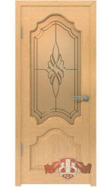 Венеция 11ДО1 (светлый дуб) межкомнатная дверь (Витрина)