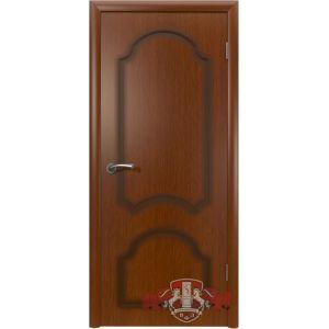 Кристалл 3ДГ2 макоре (красное дерево) межкомнатная дверь