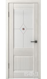 Clasic 2 (С2ПО5) беленый дуб белое матовое стекло фьюз. межкомнатная дверь