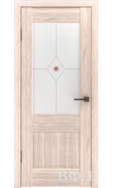 Clasic 2 (С2ПО1) капучино белое матовое стекло фьюз. межкомнатная дверь
