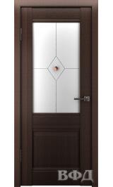 Clasic 2 (С2ПО4) венге белое матовое стекло фьюз. межкомнатная дверь