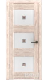 Clasic 3 (С3ПО1) капучино белое матовое стекло фьюз. межкомнатная дверь
