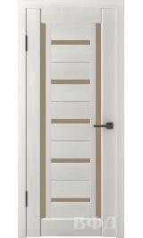 LINE 14 ( Л14ПО5) беленый дуб стекло бронза межкомнатная дверь