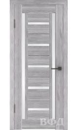 LINE 14 ( Л14ПО2) серый дуб стекло белый сатинат межкомнатная дверь