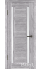 LINE 15 ( Л15ПО2) серый дуб стекло белый сатинат межкомнатная дверь