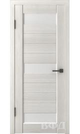 LINE 5 ( Л5ПО5) беленый дуб стекло белое межкомнатная дверь
