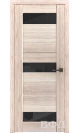 LINE 5 ( Л5ПО1) капучино стекло черное межкомнатная дверь