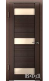 LINE 5 ( Л5ПО4) венге стекло бежевое межкомнатная дверь