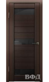 LINE 5 ( Л5ПО4) венге стекло черное межкомнатная дверь