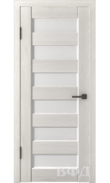 LINE 7 (Л7ПО5) беленый дуб стекло белое межкомнатная дверь