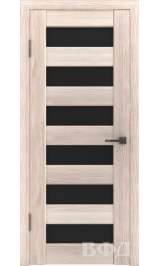 LINE 7 ( Л7ПО1) капучино стекло черное межкомнатная дверь