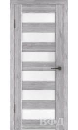 LINE 7 ( Л7ПО2) серый дуб стекло белое межкомнатная дверь