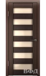 LINE 7 ( Л7ПО4) венге стекло бежевое межкомнатная дверь