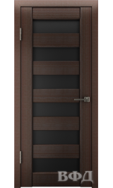 LINE 7 (Л7ПО4) венге стекло черное межкомнатная дверь