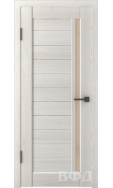 LINE 9 ( Л9ПО5) беленый дуб стекло бежевое межкомнатная дверь