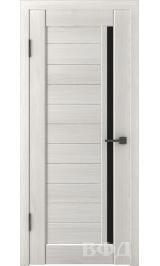 LINE 9 ( Л9ПО5) беленый дуб стекло черное межкомнатная дверь