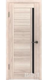 LINE 9 ( Л9ПО1) капучино стекло черное межкомнатная дверь
